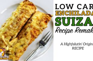 Low Carb ENCHILADAS SUIZAS - The BEST Keto Enchilada Recipe - Enchiladas Suisse LOW CARB ENCHILADAS SUIZAS / SUISSE 1/3 cup chopped onion 1 clove minced garlic 1 T. bacon fat or oil 8-ounce can tomato sauce + 1 can water 4-ounce can chopped green chiles (do not drain) 3 cups chopped, cooked chicken 2 cups heavy whipping cream 1/2 cup water 4 chicken bouillon cubes (or equivalent) 1/2 pound grated Swiss cheese Salt & pepper to taste 10 low carb tortillas from Keto Connect